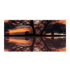 Aurora Sunset Sun Landscape Satin Wrap