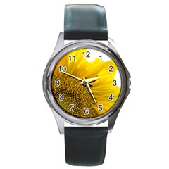 Plant Nature Leaf Flower Season Round Metal Watch