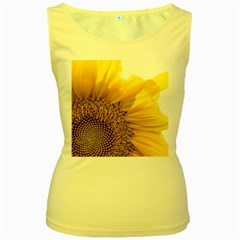 Plant Nature Leaf Flower Season Women s Yellow Tank Top