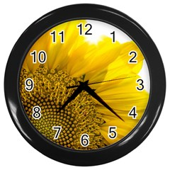 Plant Nature Leaf Flower Season Wall Clocks (Black)
