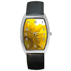 Plant Nature Leaf Flower Season Barrel Style Metal Watch