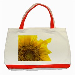 Plant Nature Leaf Flower Season Classic Tote Bag (Red)