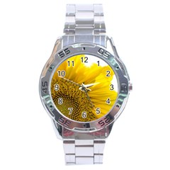 Plant Nature Leaf Flower Season Stainless Steel Analogue Watch