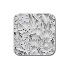 Pattern Motif Decor Rubber Square Coaster (4 pack)