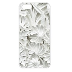 Pattern Motif Decor Apple iPhone 5 Seamless Case (White)