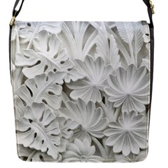 Pattern Motif Decor Flap Messenger Bag (S)