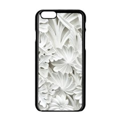 Pattern Motif Decor Apple iPhone 6/6S Black Enamel Case