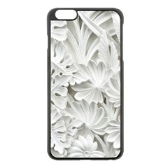 Pattern Motif Decor Apple iPhone 6 Plus/6S Plus Black Enamel Case