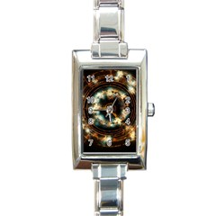 Science Fiction Energy Background Rectangle Italian Charm Watch