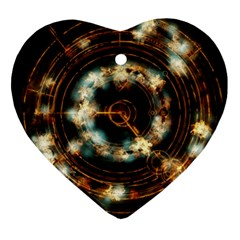 Science Fiction Energy Background Ornament (Heart)