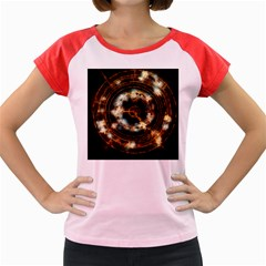 Science Fiction Energy Background Women s Cap Sleeve T-Shirt