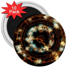Science Fiction Energy Background 3  Magnets (10 pack)