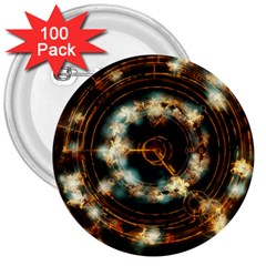 Science Fiction Energy Background 3  Buttons (100 Pack)