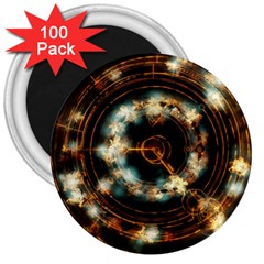 Science Fiction Energy Background 3  Magnets (100 pack)