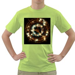 Science Fiction Energy Background Green T-Shirt
