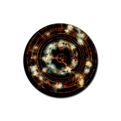 Science Fiction Energy Background Rubber Coaster (round)