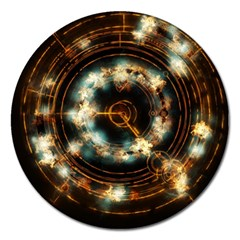 Science Fiction Energy Background Magnet 5  (Round)