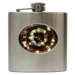 Science Fiction Energy Background Hip Flask (6 Oz)