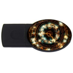 Science Fiction Energy Background USB Flash Drive Oval (2 GB)