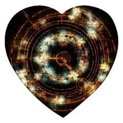 Science Fiction Energy Background Jigsaw Puzzle (Heart)