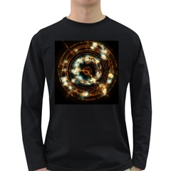 Science Fiction Energy Background Long Sleeve Dark T Shirts