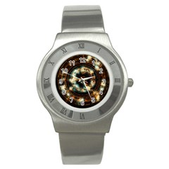 Science Fiction Energy Background Stainless Steel Watch
