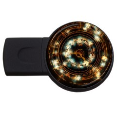 Science Fiction Energy Background Usb Flash Drive Round (4 Gb)
