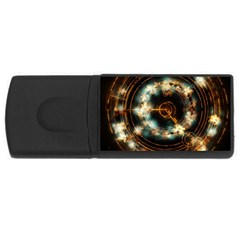 Science Fiction Energy Background Usb Flash Drive Rectangular (4 Gb)