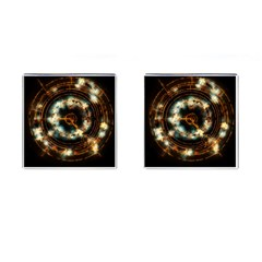 Science Fiction Energy Background Cufflinks (Square)