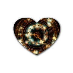 Science Fiction Energy Background Rubber Coaster (heart)