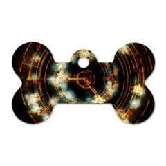 Science Fiction Energy Background Dog Tag Bone (two Sides)