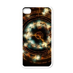 Science Fiction Energy Background Apple iPhone 4 Case (White)