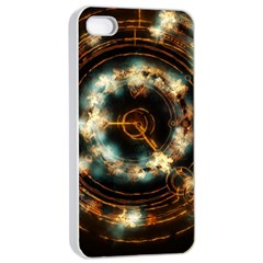 Science Fiction Energy Background Apple iPhone 4/4s Seamless Case (White)