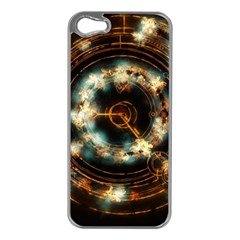 Science Fiction Energy Background Apple iPhone 5 Case (Silver)