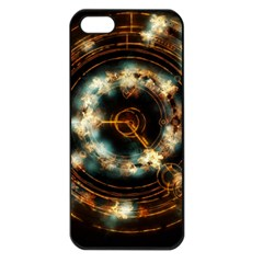 Science Fiction Energy Background Apple iPhone 5 Seamless Case (Black)