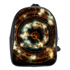 Science Fiction Energy Background School Bags (xl)