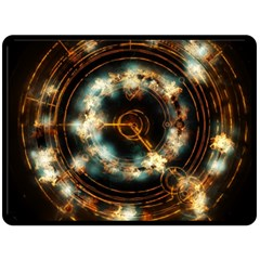 Science Fiction Energy Background Double Sided Fleece Blanket (Large)