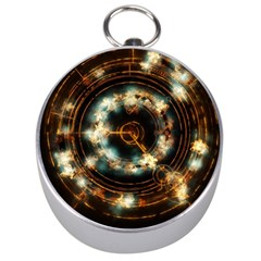 Science Fiction Energy Background Silver Compasses