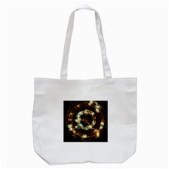 Science Fiction Energy Background Tote Bag (White)