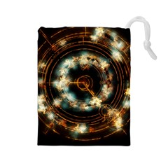 Science Fiction Energy Background Drawstring Pouches (large)