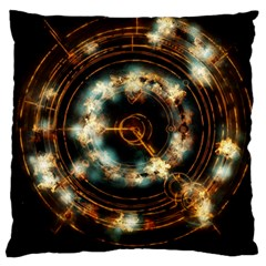 Science Fiction Energy Background Large Flano Cushion Case (Two Sides)