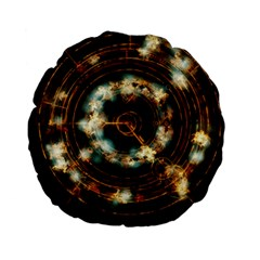 Science Fiction Energy Background Standard 15  Premium Flano Round Cushions