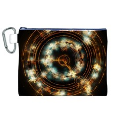 Science Fiction Energy Background Canvas Cosmetic Bag (XL)