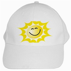 The Sun A Smile The Rays Yellow White Cap