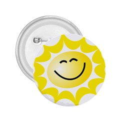 The Sun A Smile The Rays Yellow 2 25  Buttons