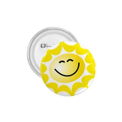 The Sun A Smile The Rays Yellow 1.75  Buttons