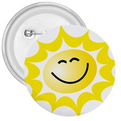 The Sun A Smile The Rays Yellow 3  Buttons