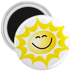 The Sun A Smile The Rays Yellow 3  Magnets