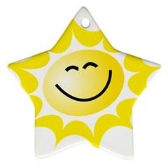The Sun A Smile The Rays Yellow Ornament (star)