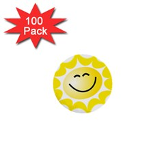 The Sun A Smile The Rays Yellow 1  Mini Buttons (100 pack)